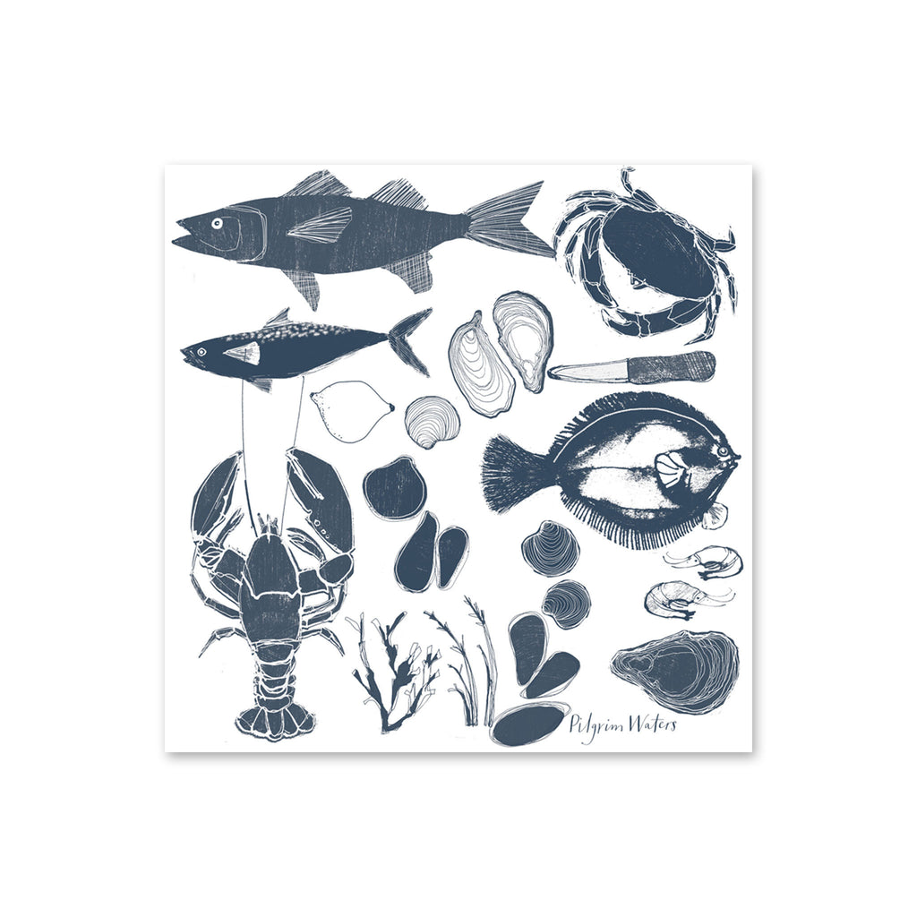 Pilgrim Waters Tea Towel - Seafood