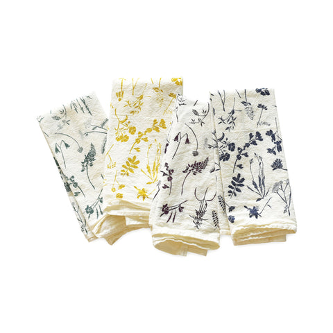 Mixed Wildflowers Napkin Set of 4