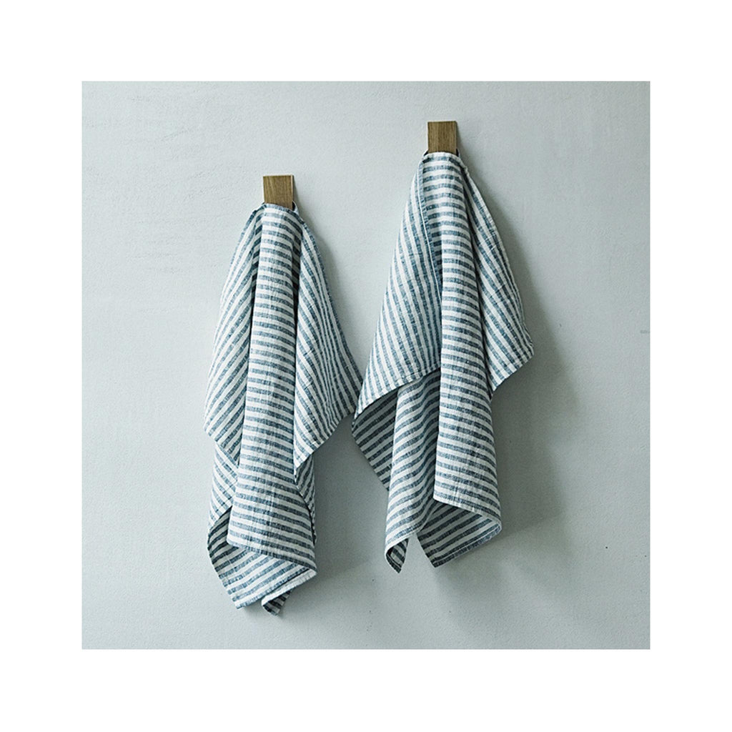 Brittany Striped Linen Kitchen Towel - Graphite – Greentail Table