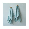 Brittany Striped Linen Kitchen Towel - Marine Blue hanging