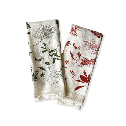 Mixed Boughs & Berries  Napkin Set of 4