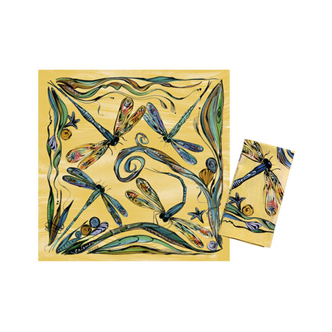 Clay Born Textiles Napkin Set of 2  - Dragonfly