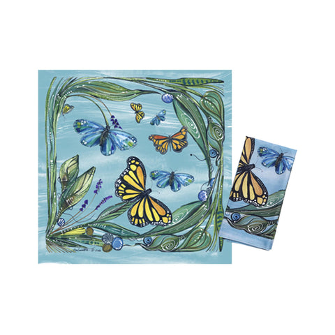Clay Born Textiles Napkin Set of 2  - Monarch