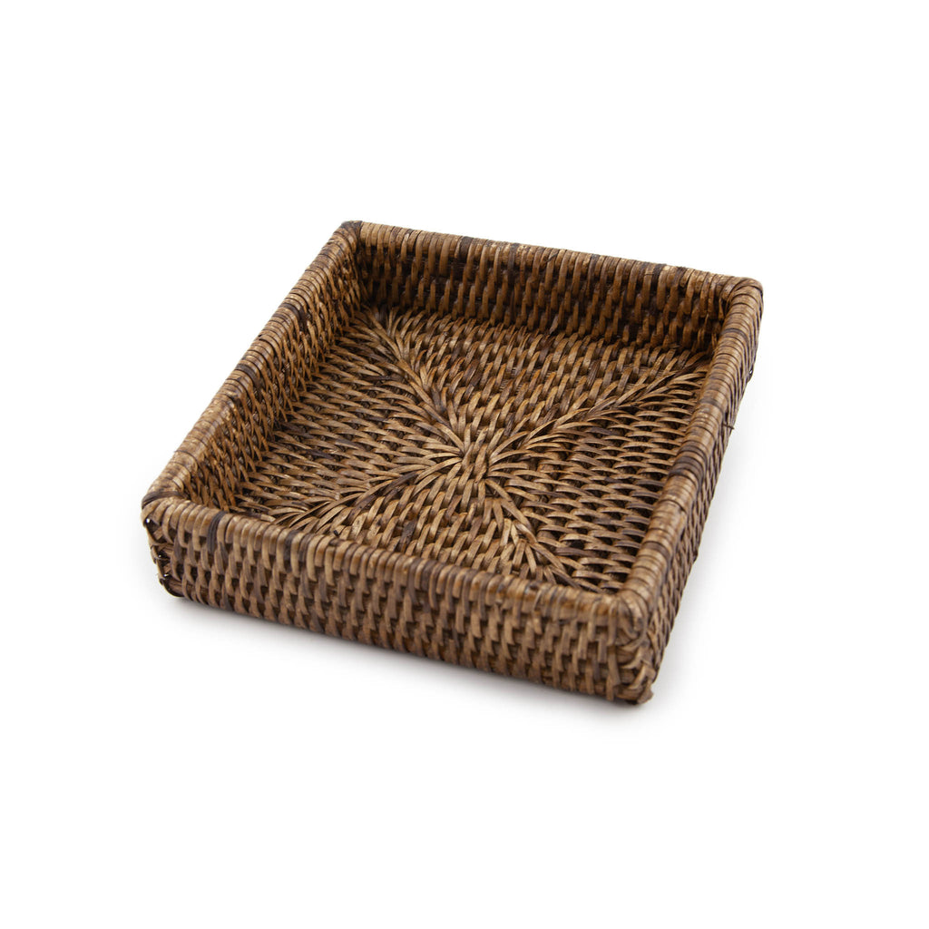 Rattan Napkin Box - Beverage - Brown