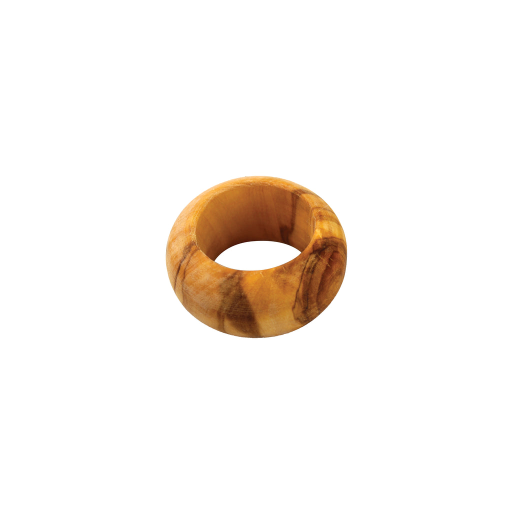 Olive Wood Round Napkin Ring