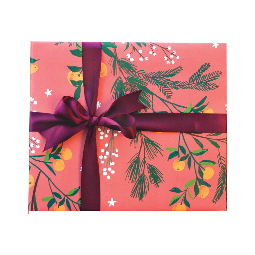 Smudge Ink Wrapping Paper Roll - Clementines & Botanicals