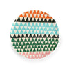 Anne Bentley Plate - Multi Triangles