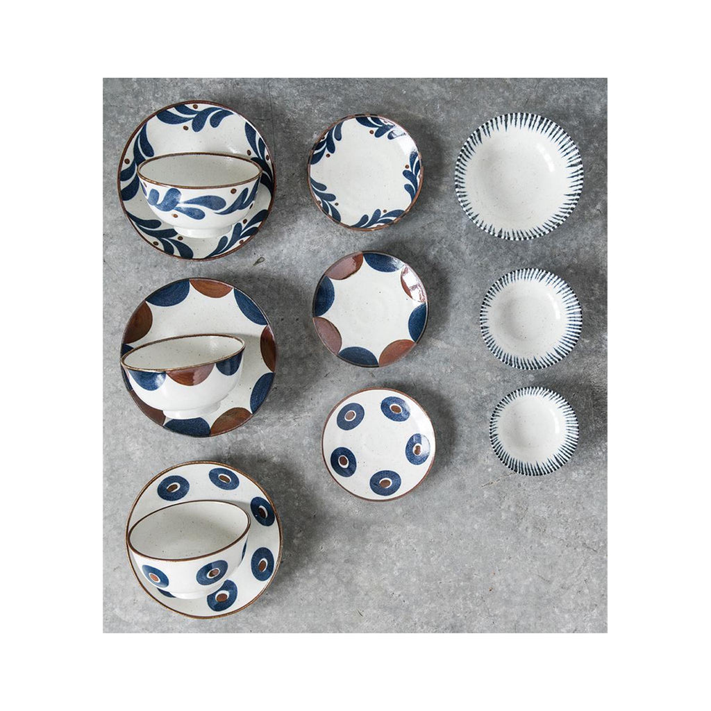 Japanese Stoneware Patterned 6.5