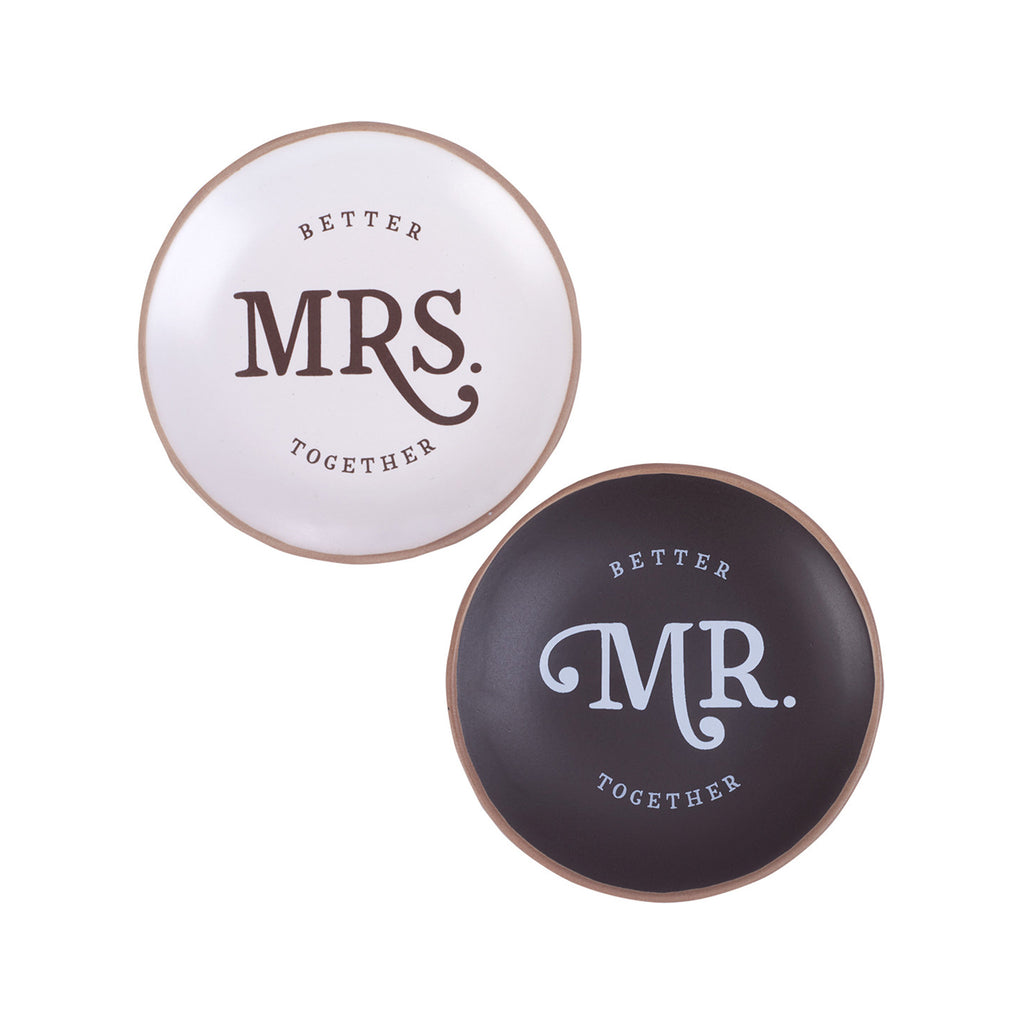 Mr. & Mrs. Trinket Trays Set