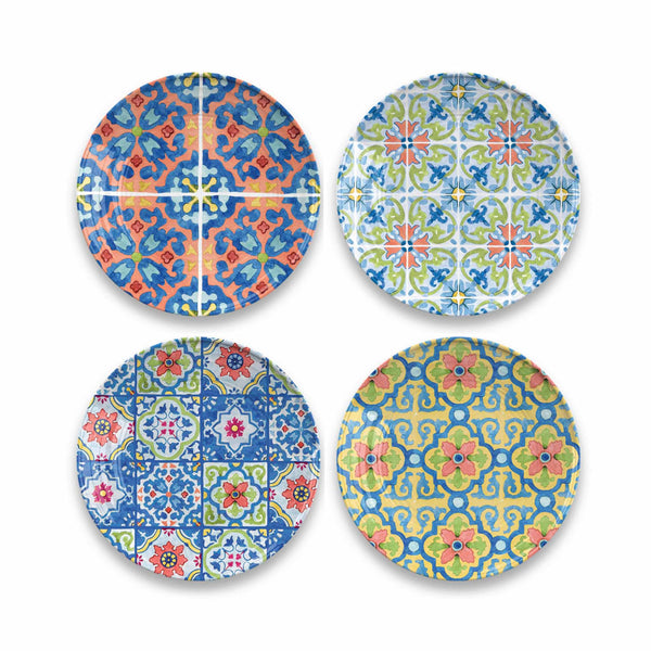 Talavera Tile Salad Plates Set of 4