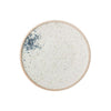 Blue & Cream Matte Reactive Glaze Stoneware Plate - Cream