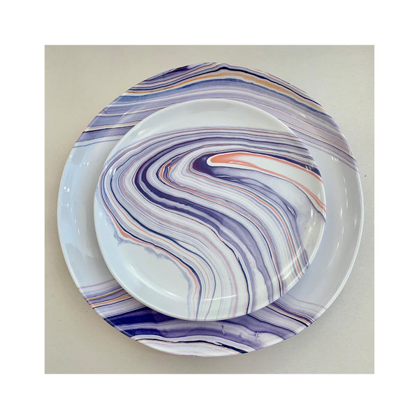 Marble Waves Melamine Dinner Plate