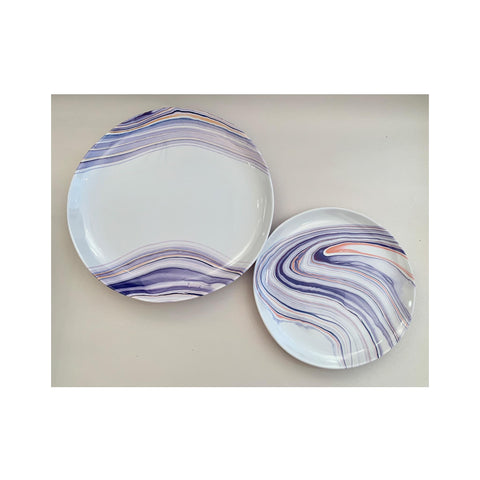 Marble Waves Melamine Salad Plate