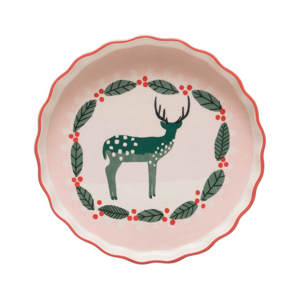Holiday Deer Pie Dish