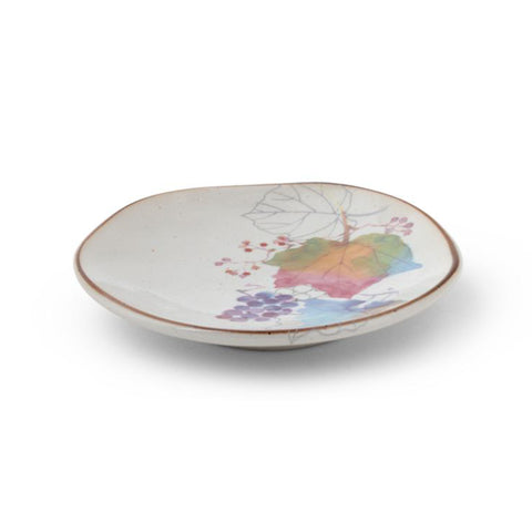 Japanese Small Floral Plate - Leaves