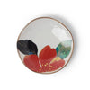 Japanese Small Floral Plate - Red Flower