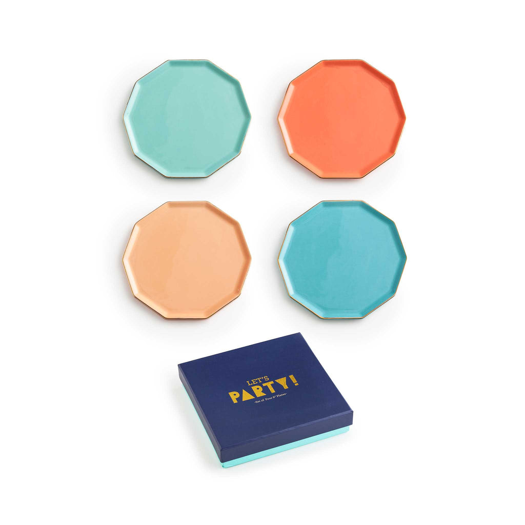 Let's Party Decagon Plate Set of 4