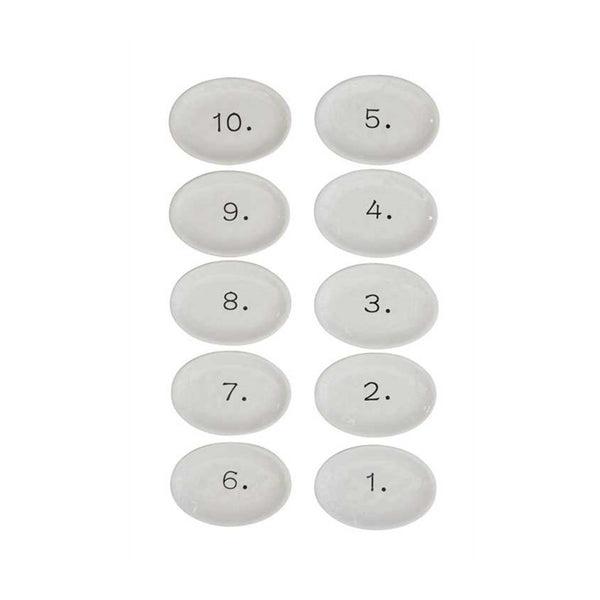 Numbered Appetizer Plates Set of 10