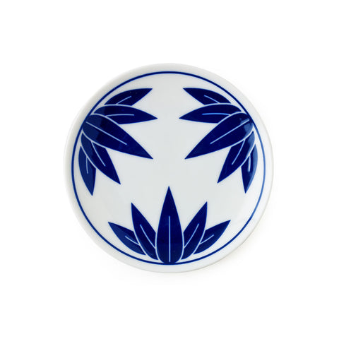 Blue & White Kisshyo Plate - Bamboo
