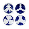 Blue & White Kisshyo Plate Set of 4
