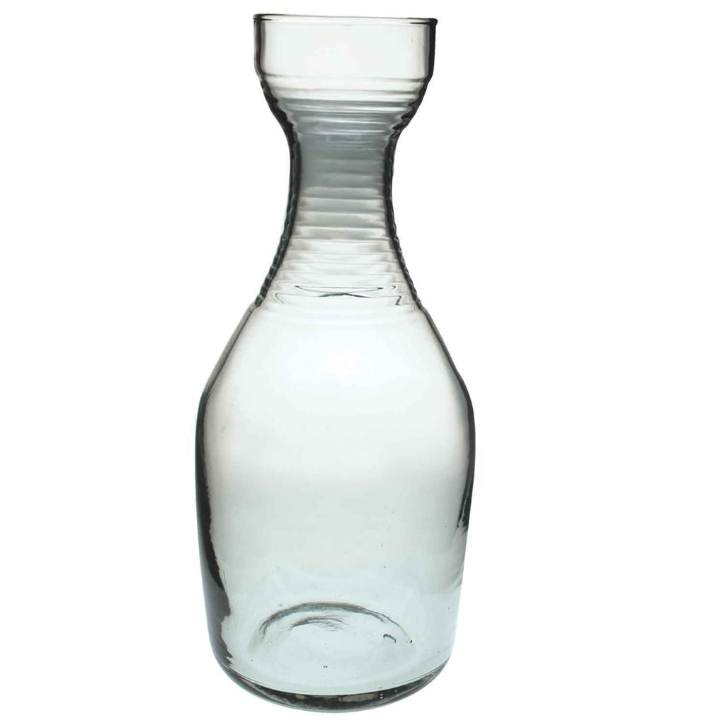 Recycled Glass Ripple Carafe