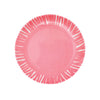 French Bull Fringe Appetizer Plate Set of 6 - Pink Plate