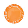 French Bull Fringe Appetizer Plate Set of 6 - Orange Plate