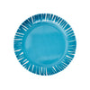 French Bull Fringe Appetizer Plate Set of 6 - Blue Plate