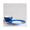 QSquared Bistro Blue Cereal Bowl & Dinner Plate