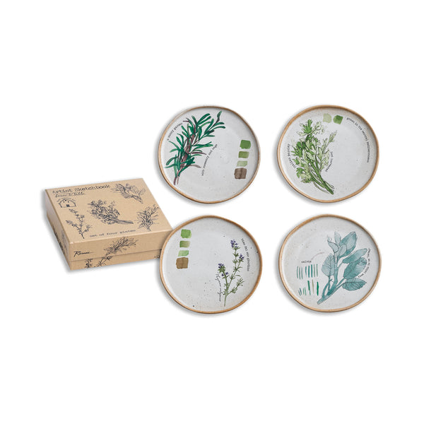 Farm to Table Plate Set of 4 - Herbs
