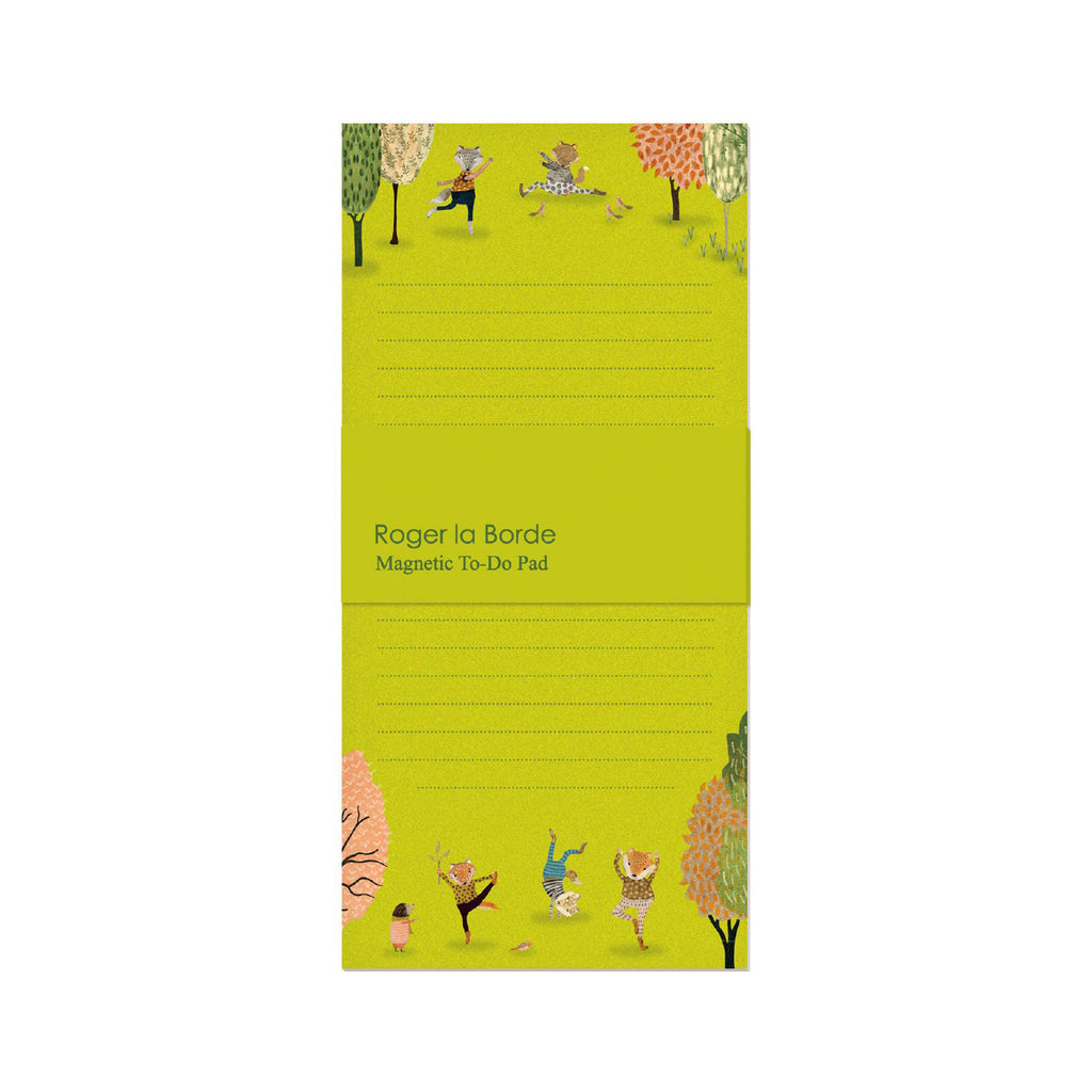Roger la Bode Memo Pad - Yoga in the Park