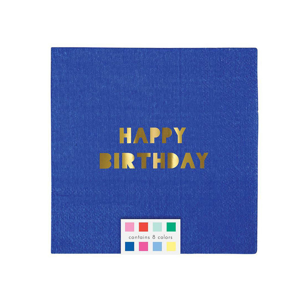 Happy Birthday Napkins Set of 8