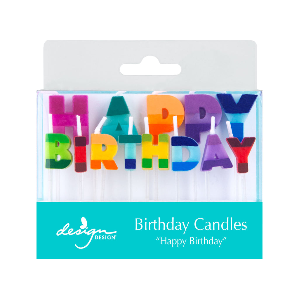 Color Block Birthday Candles