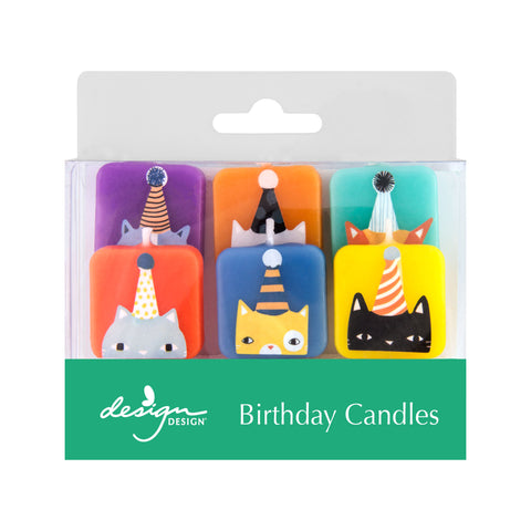 Cats with Hats Birthday Candles