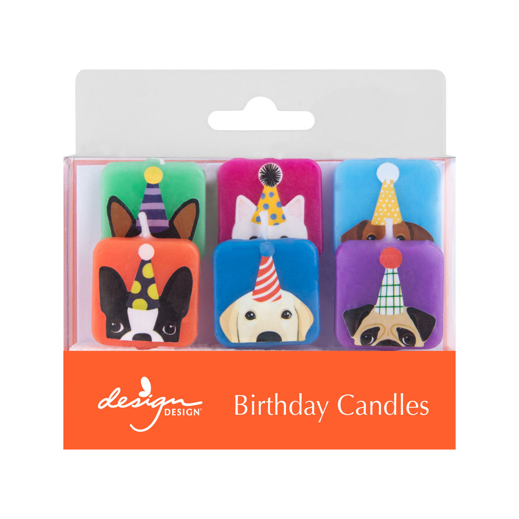Dogs with Hats Birthday Candles
