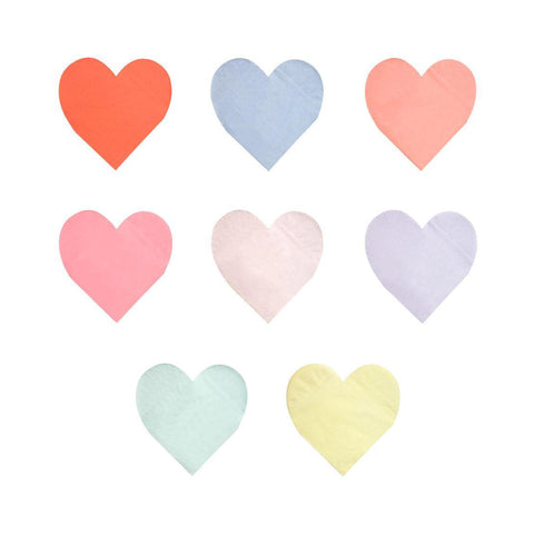 Rainbow Hearts Napkins - Large