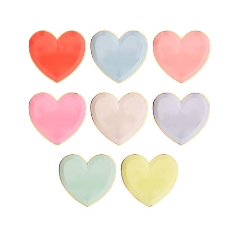 Rainbow Hearts Plates - Large
