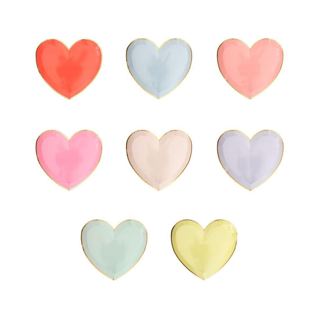 Rainbow Hearts Plates - Small