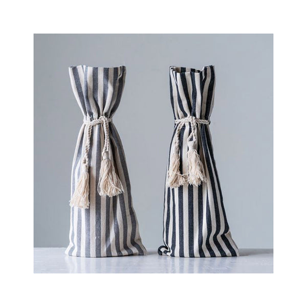 Striped Wine Bags