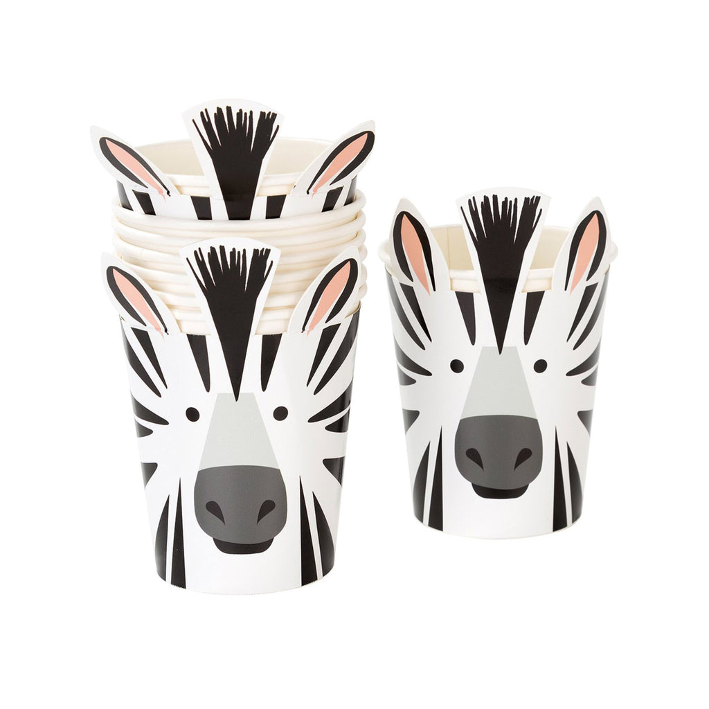 Party Animals Paper Cups - Zebra