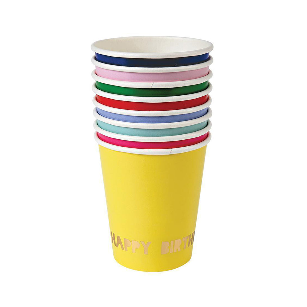 Happy Birthday Paper Cups Set of 8