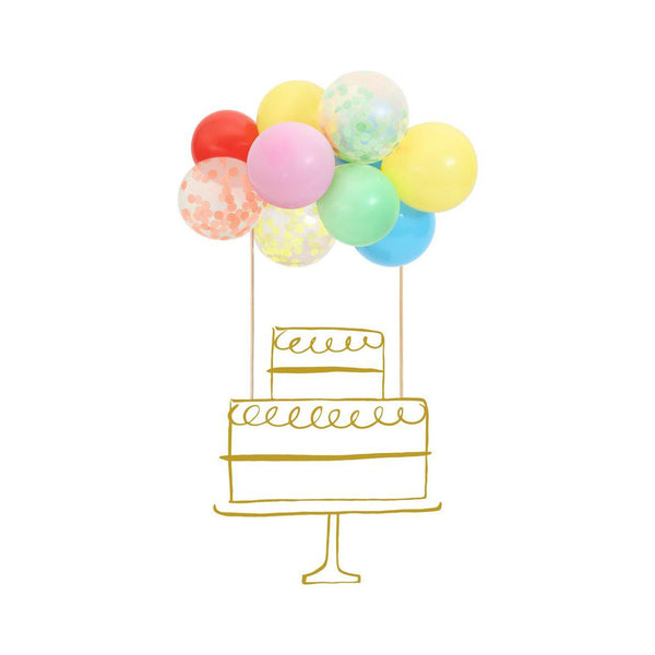 Rainbow Balloons Cake Topper Kit