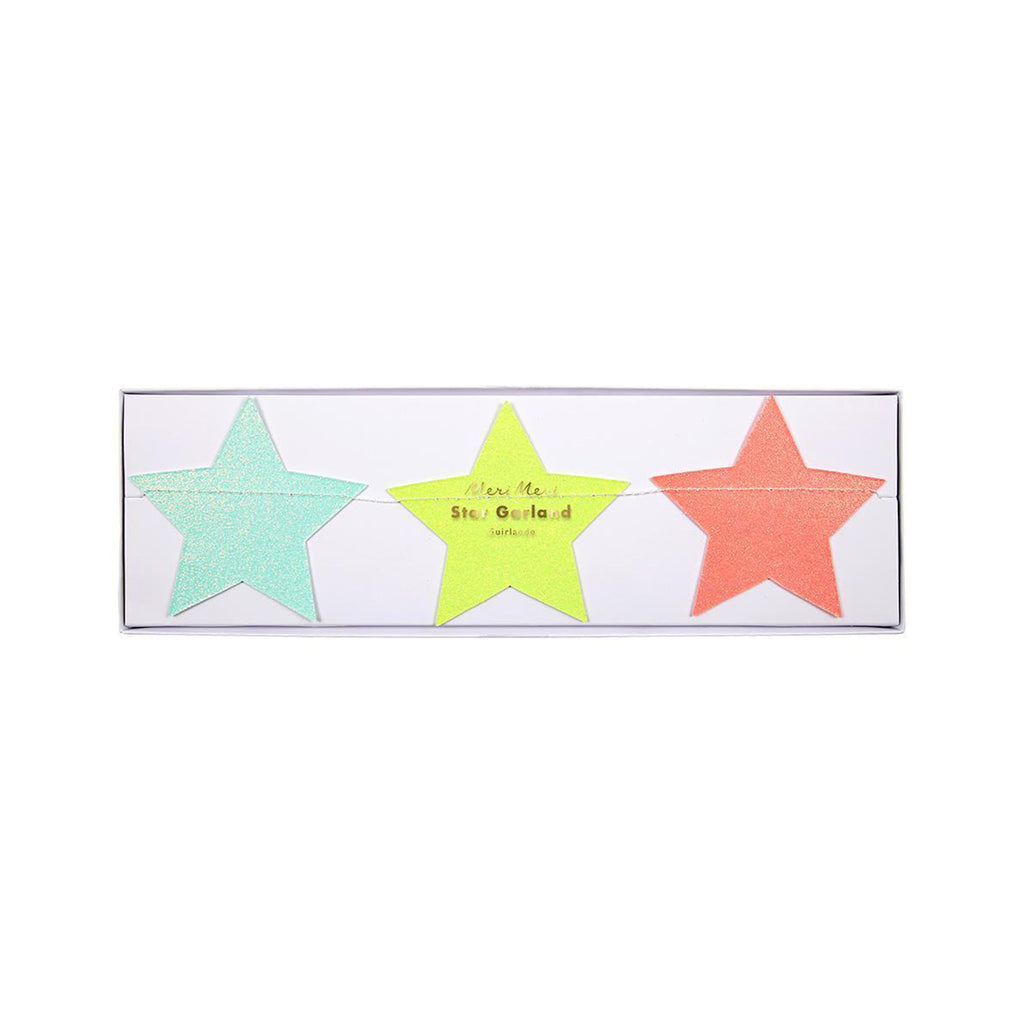 Rainbow Star Garland in package