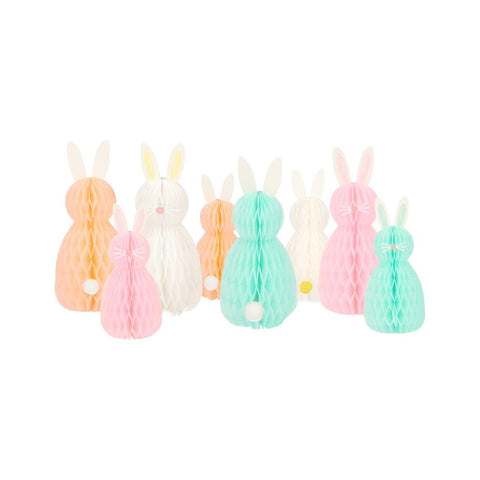 Honeycomb Spring Bunnies Decor