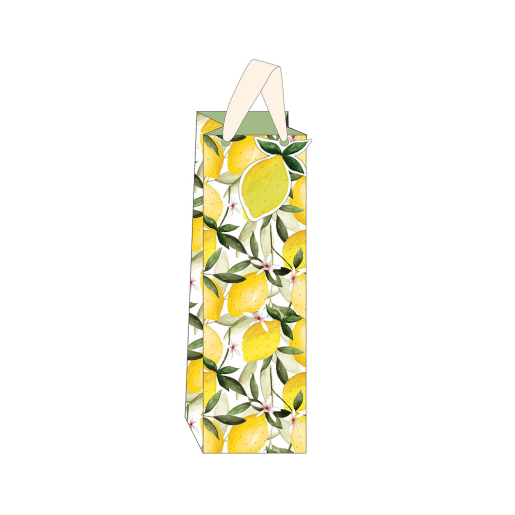 Lemons & Oranges Bottle Gift Bag