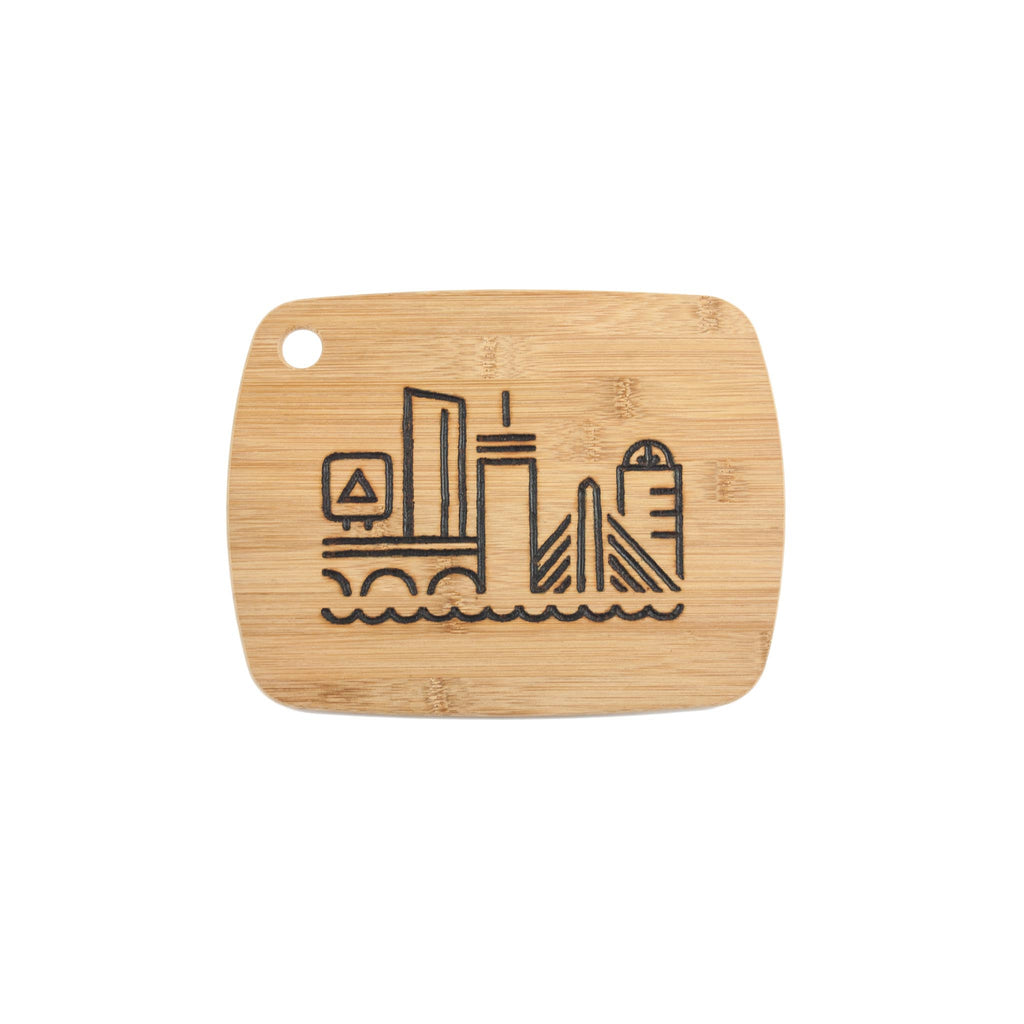 Boston Skyline Bamboo Board