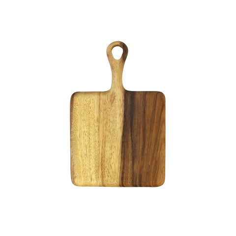 Acacia Mini Board with Short Handle - Square