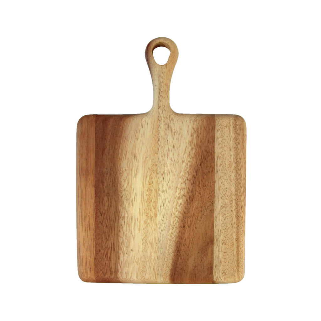 Acacia Small Board with Short Handle - Square