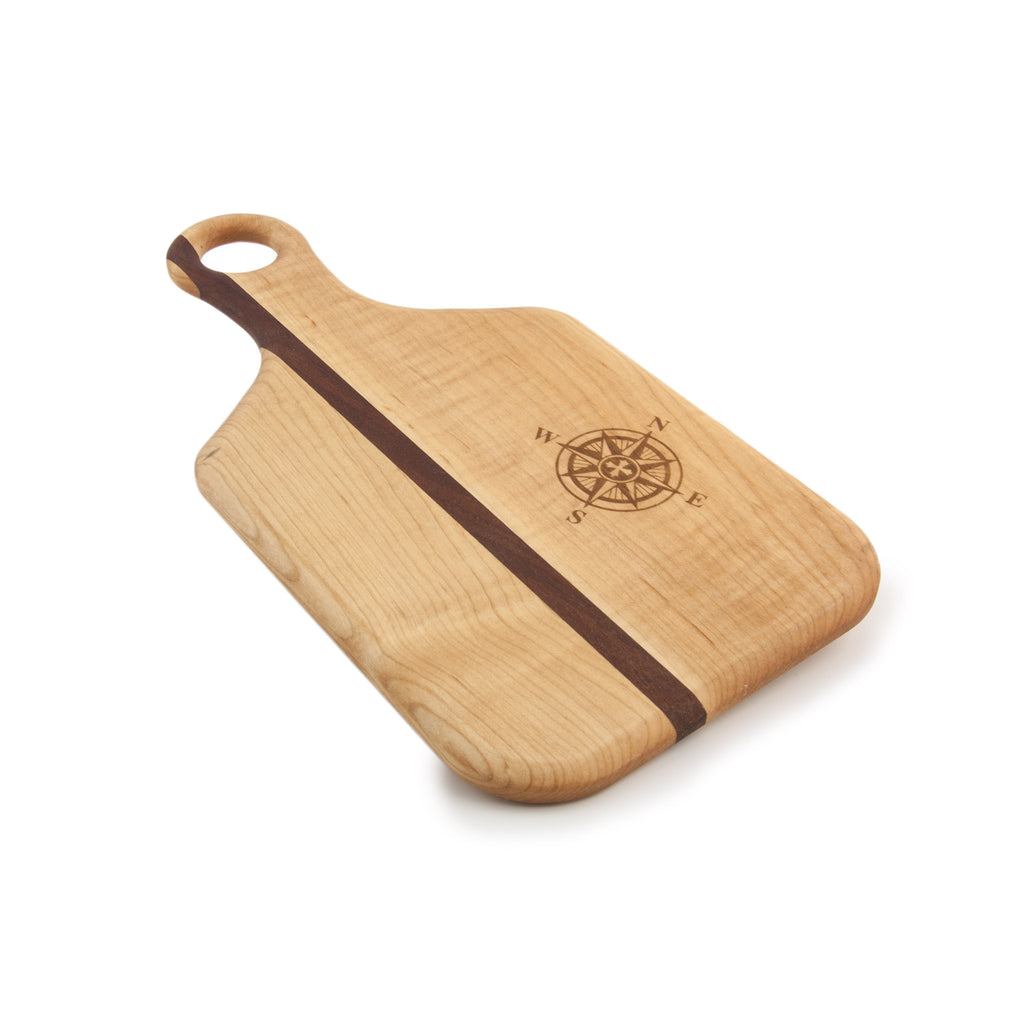 Paddle Style Cheese Board with Rose Compass