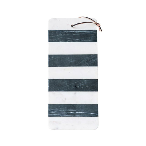 Striped Marble Board with Leather Tie